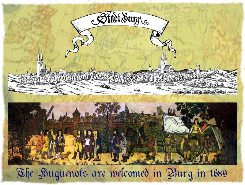 The Huguenots are welcomed in Burg in 1689
